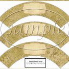 Distressed Gold Distressed Text Box~  Cupcake Paper Wrappers ~ Set of 1 Dozen