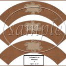 Linen Brown Brown Curley Text Box ~  Cupcake Paper Wrappers ~ Set of 1 Dozen