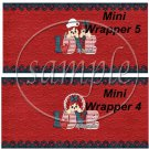 Raggedy Ann Set #3 ~ MINI Candy Bar Wrappers