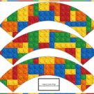 Faux Lego Legos Set #2 ~  Cupcake Paper Wrappers ~ Set of 1 Dozen