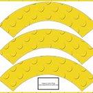 Faux Lego Legos Set #8 ~  Cupcake Paper Wrappers ~ Set of 1 Dozen