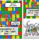 Faux Lego Legos #1   ~ Bag Topper