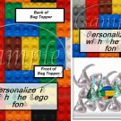 Faux Lego Legos #3   ~ Bag Topper