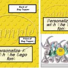 Faux Lego Legos #8   ~ Bag Topper