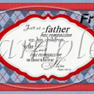 Father's Day Red Border Argyle  ~ Pint Glass Jar Set