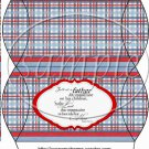 Father's Day Red Border Blue Plaid ~ Pillow Box