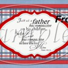 Father's Day Red Border Blue Plaid  ~ Pint Glass Jar Set