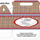 Father's Day Red Border Brown Plaid  ~ Gable Box