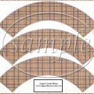 Father's Day Brown Plaid  ~  Cupcake Paper Wrappers ~ Set of 1 Dozen