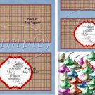 Father's Day Blue Border Brown Plaid  ~ Bag Topper