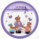 Mother's Day Bears Purple ~ Cupcake Picks & Toppers