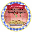 Kitchen of Love   ~ Cupcake or Food Picks & Toppers ~ 1 Dozen