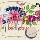 Happy Birthday Cream Floral  ~ Pint Glass Jar Set