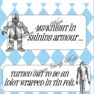 Knight In Shinning Armor ..... Tin Foil ~ Candy Bar Wrapper