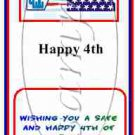 Happy 4th of July ~ Mint Matchbook Cover