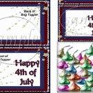 July 4th Star Burst ~ Bag Topper