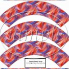 4th of July Swirls   ~  Cupcake Paper Wrappers ~ Set of 1 Dozen
