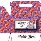 4th of July Swirls  ~ Gable Box