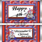 4th of July Swirls  ~ Standard Size Candy Bar Wrapper