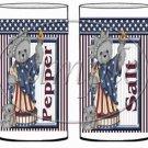 Blue Stars Statue of Liberty Bears #1 ~ Salt & Pepper Shaker Wrappers