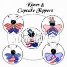 Uncle Sam Ladybugs  ~ Cupcake Picks & Toppers
