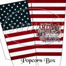 Flag God Bless America   ~ Popcorn Box ~ 6 Boxes