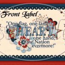 One Land, One Heart ~ Gallon Can Set