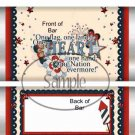 One Land, One Heart  ~ Standard Size Candy Bar Wrapper