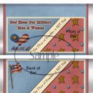 Our Vets  ~ Standard Size Candy Bar Wrapper