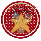 God Bless America Red ~ Cupcake Picks & Toppers