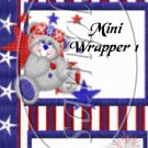 Red, White and Blue Bear ~ MINI Candy Bar Wrapper