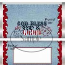 God Bless USA Blue ~ Standard Size Candy Bar Wrapper