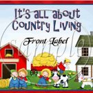 Country Livin' ~ Gallon Can Set