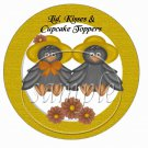 Mr & Mrs Crow ~ Cupcake Picks & Toppers