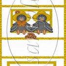 Mr & Mrs Crow ~  MINI Candy Bar Wrapper