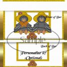 Mr & Mrs Crow  ~ Standard Size Candy Bar Wrapper