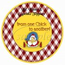 Home Sweet Home Chick ~ Cupcake Picks & Toppers