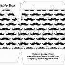 Mustache #1  ~ Gable Gift Snack Box