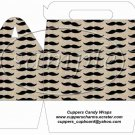 Mustache Brown Background  ~ Gable Gift Snack Box