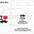 I ♥ Love Mustache    ~ Gable Gift Snack Box