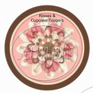 Mom Brown & Peach Floral  ~ Cupcake Picks & Toppers