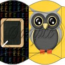 Owl Back To School Yellow Black Back #2  ~ Pillow Box