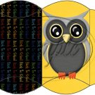 Owl Back To School Yellow Black Back #3  ~ Pillow Box