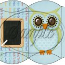 Owl Back To School Blue & Blue Back #1  ~ Pillow Box
