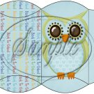 Owl Back To School Blue & Blue Back #2  ~ Pillow Box