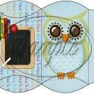Owl Back To School Blue & Blue Back #4 ~ Pillow Box