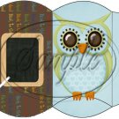 Owl Back To School Blue & Brown Back #1 ~ Pillow Box