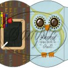 Owl Back To School Blue & Brown Back #3 ~ Pillow Box