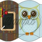 Owl Back To School Blue & Brown Back #4 ~ Pillow Box