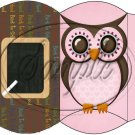 Owl Back To School Pink & Brown Back #1 ~ Pillow Box